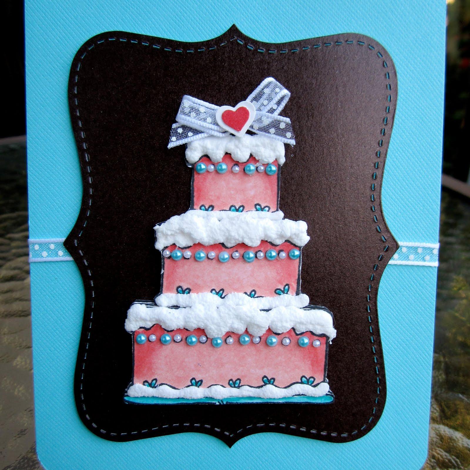Fancy Wedding Cake Card