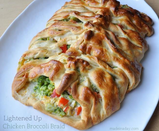 Lightened Up Chicken Broccoli Braid Recipe | Yummly