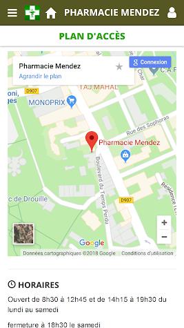 Pharmacie Mendez Screenshot