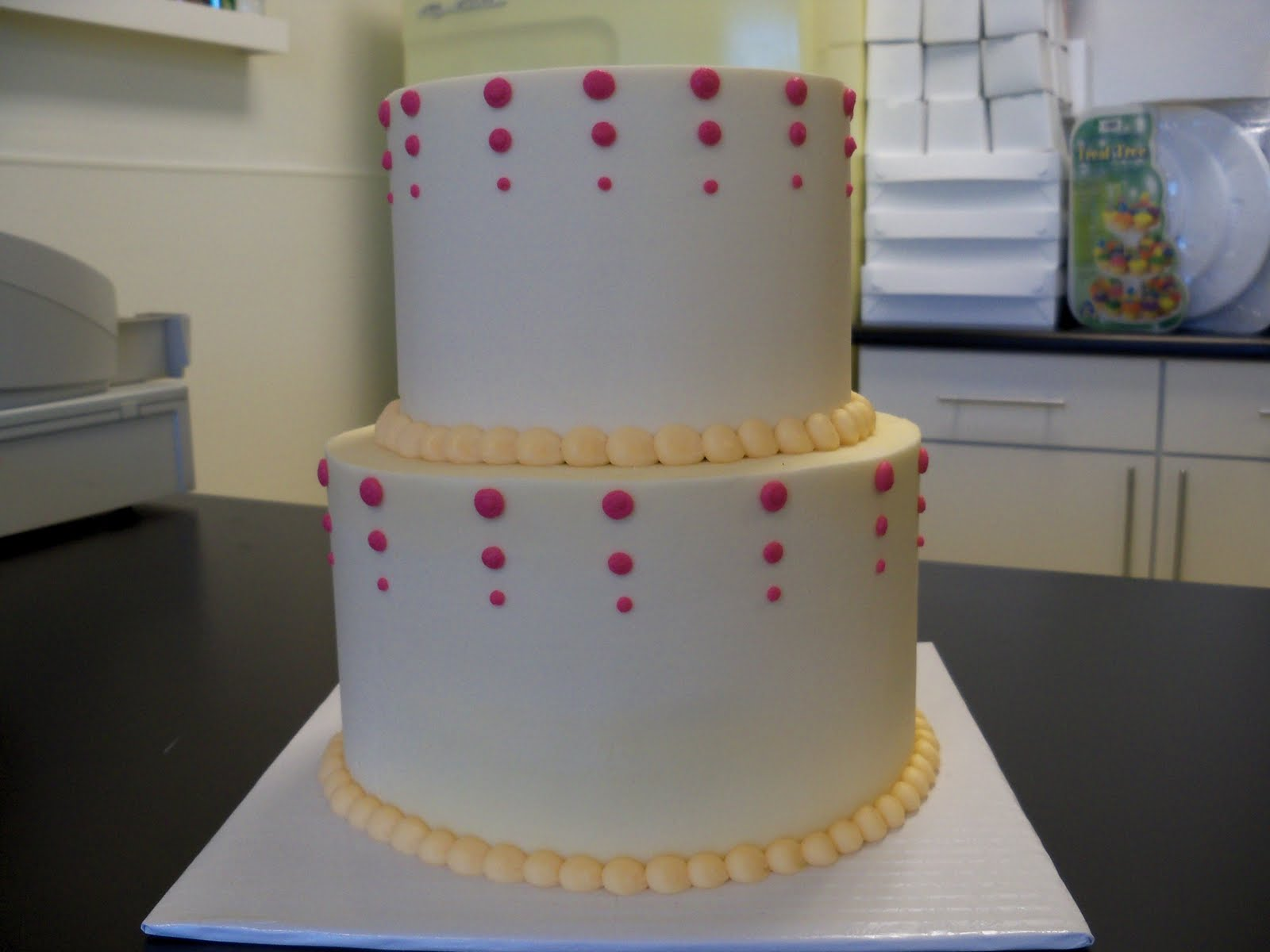 Fuscia and Orange wedding cake