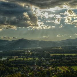 Look Down by Mara R. Sirako - Landscapes Weather ( field, zbiljsko lake, sora field, weather, tourism, lake, zbilje )
