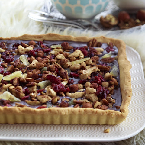 Chocolate Tart with Cranberries and Nuts
