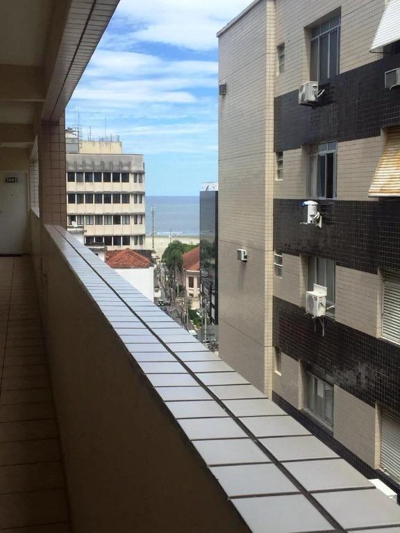 Apartamento com 1 dormitório à venda, 42 m² por R$ 225.000 - Gonzaga - Santos/SP