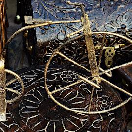 Brass Miniature  Bicycle by Prasanta Das - Artistic Objects Other Objects ( brass, miniature, bicycle )