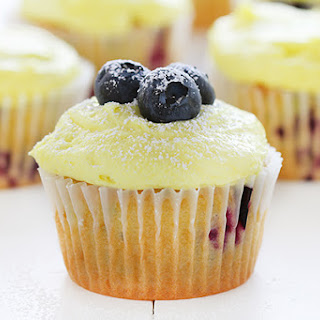 Blueberry Zucchini Cupcakes