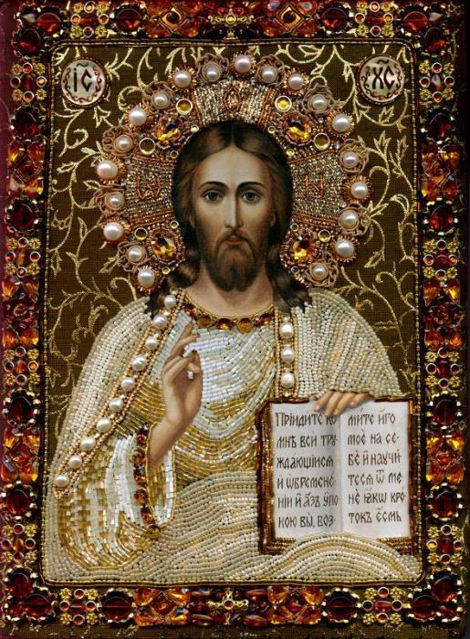 Бисер иконы иисуса