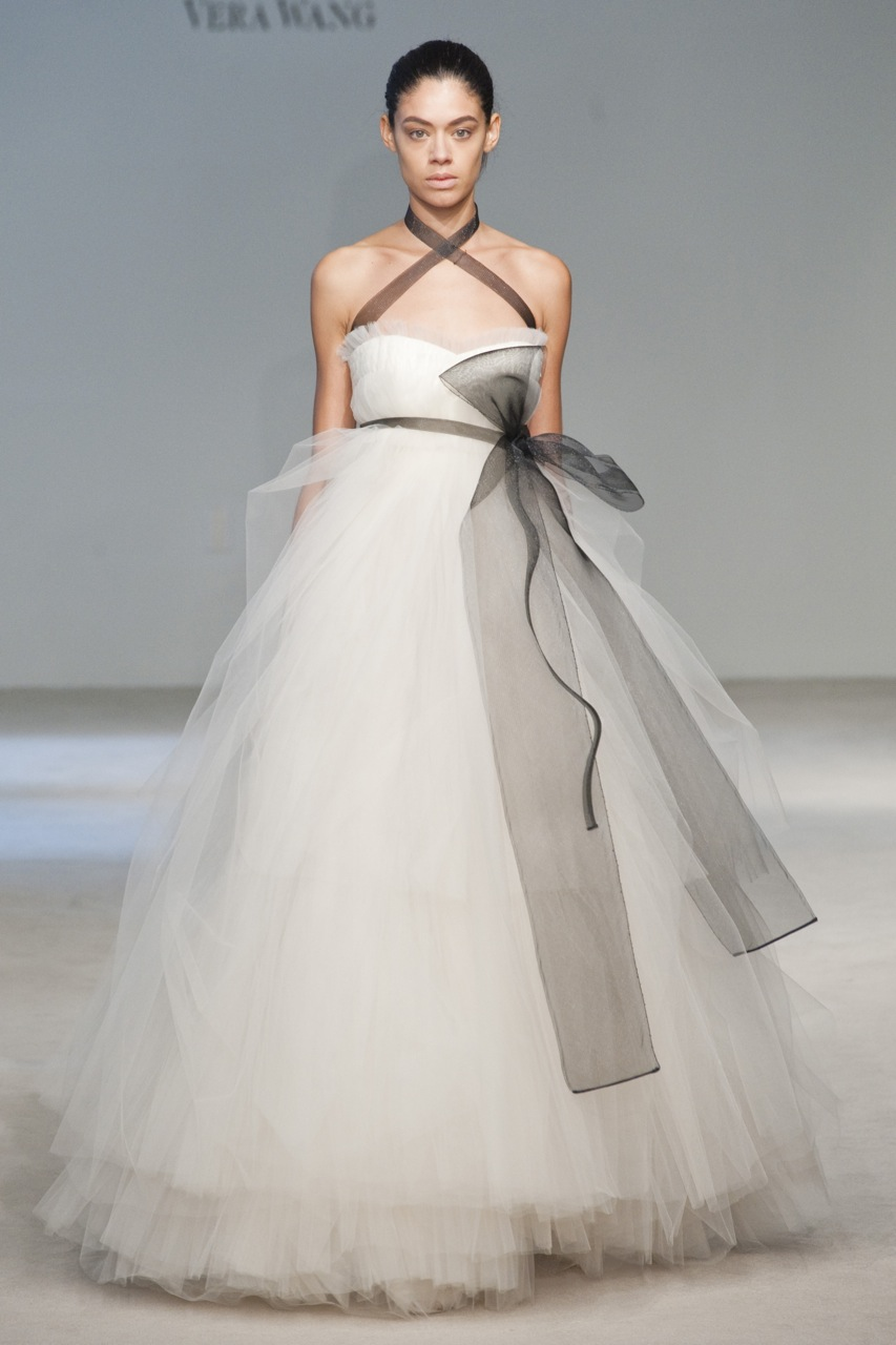 wedding dress by vera wang