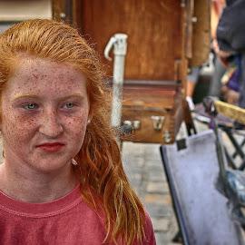 Redhead girl in Montmatre, Paris by Marthinus Strydom - People Street & Candids ( paris, montmatre, red, girl, france, freckles )