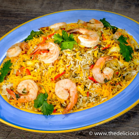 Persian Shrimp Quinoa Herb Rice
