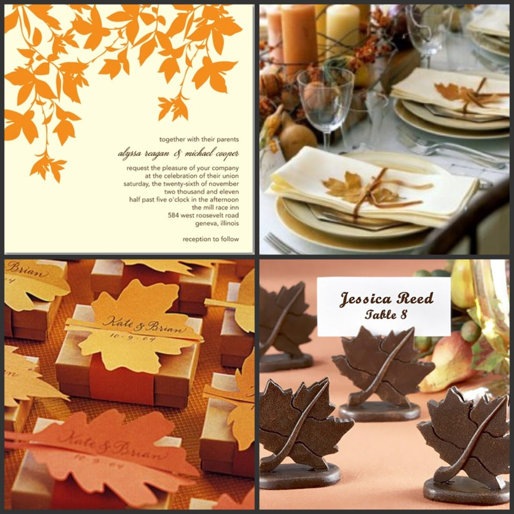 Fall Wedding Table Ideas