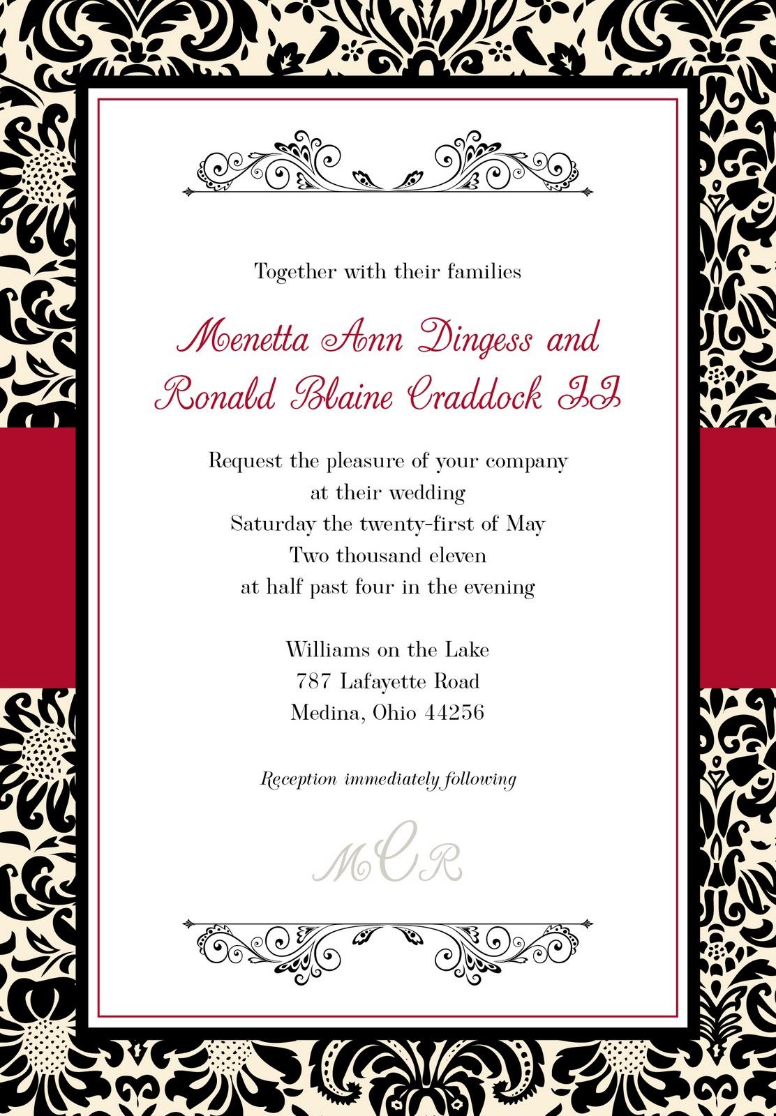 Wedding Invitation Blank as nice invitation template