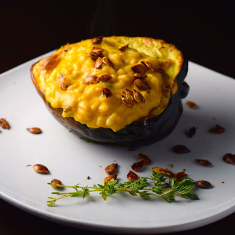 Pumpkin Risotto Stuffed Acorn Squash