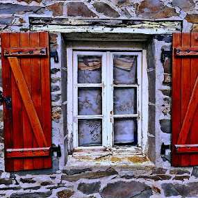 Window by Dobrin Anca - Buildings & Architecture Decaying & Abandoned ( wood, window, sunny, street, brittany,  )