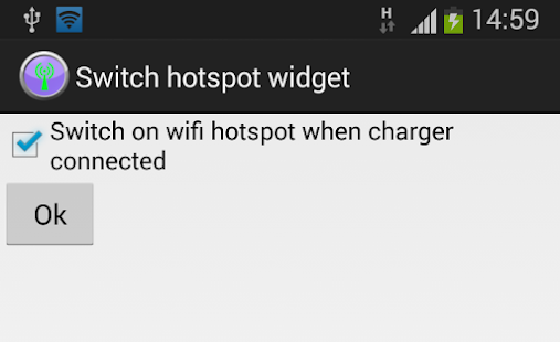 Switch hotspot widget - screenshot