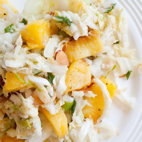 Pineapple Slaw with Creamy Ginger Lime Dressing