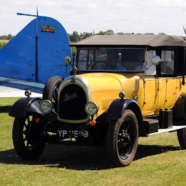 Yellow Bean by DJ Cockburn - Transportation Automobiles ( car, bedforshire, vintage, automobile, biggleswade, museum, shuttleworth collection, yp 7569, england, bean car club, old warden, bean tourer, airfield, antique, britain )