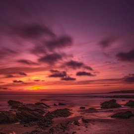 Crystal Cove 50 by Susan Liepa - Landscapes Sunsets & Sunrises ( crystal cove state park, clouds, sunset, pacific, ocean )