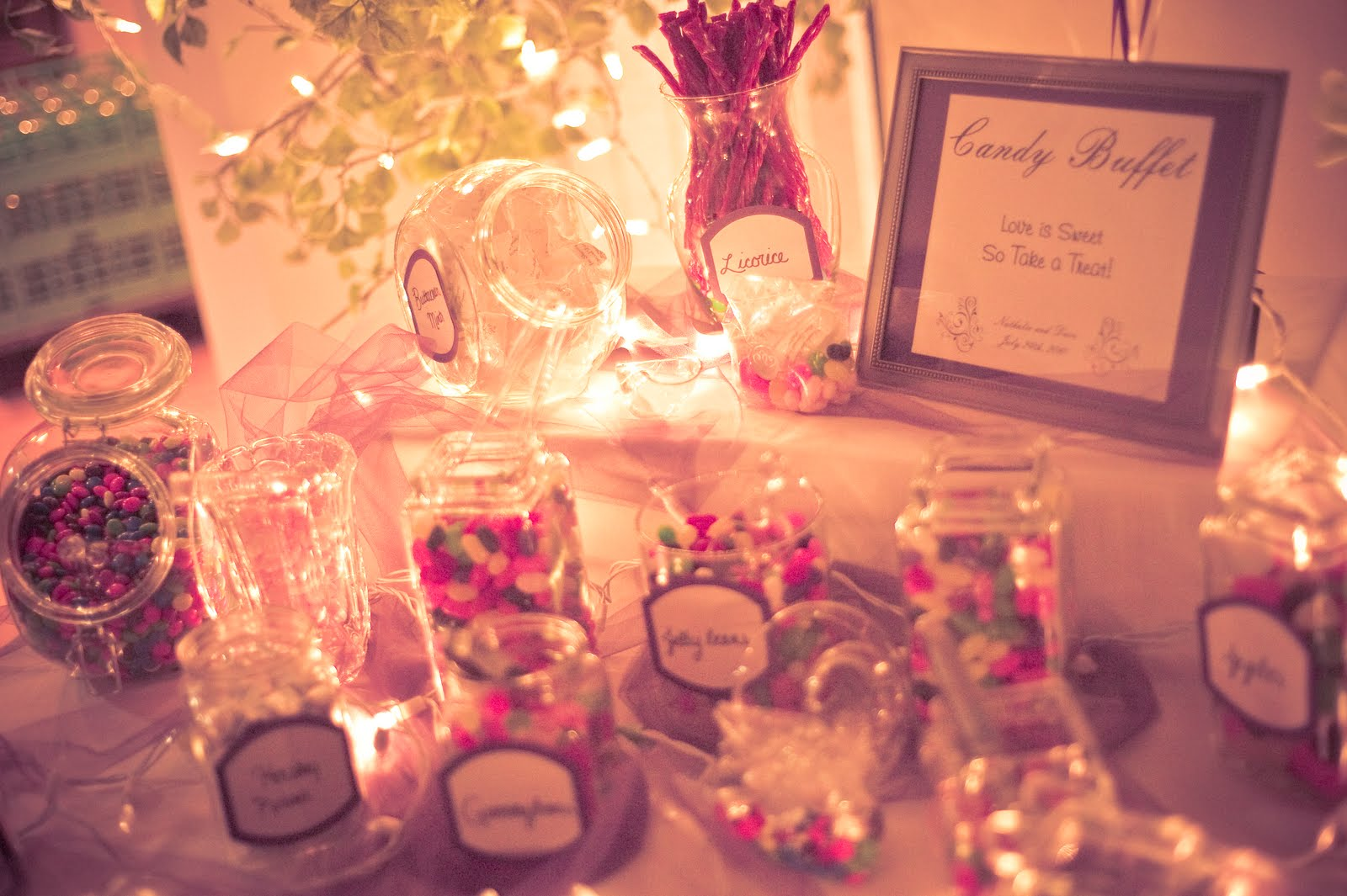 wedding candy buffet images