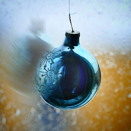 Pre-Christmas... by Zenonas Meškauskas - Artistic Objects Toys ( ball, toy, blue, christmas, motion )
