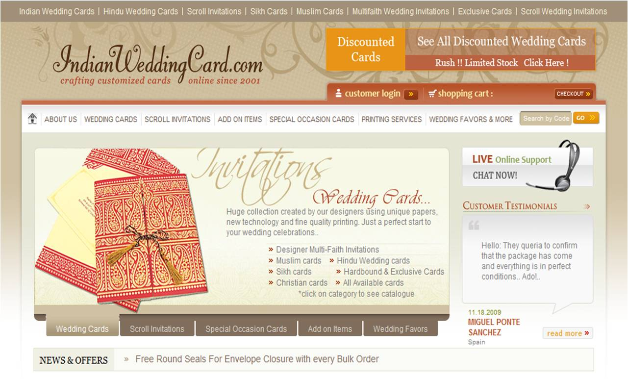 Indian Wedding Cards for