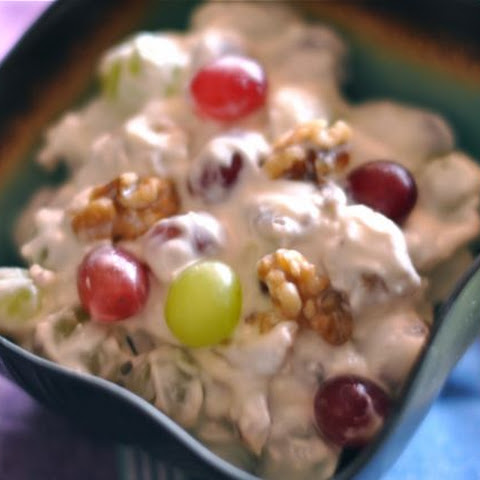 Grape Salad with Toasted Walnuts and Cream Cheese