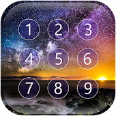 Starry Sky Keypad Lock Screen APK for Bluestacks
