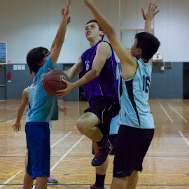through the gap by Cheryl Waring - Sports & Fitness Basketball ( layup to basket,  )