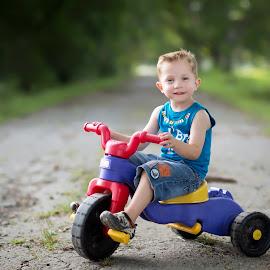 Easy Rider by Larry Welch - Babies & Children Child Portraits