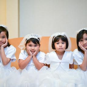flower girls by Syam Kiki - Babies & Children Child Portraits ( #girl #girls_portraiture #flower_girl #wedding_ceremony )