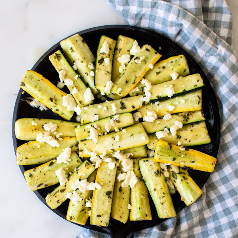 Greek-Style Roasted Zucchini with Feta