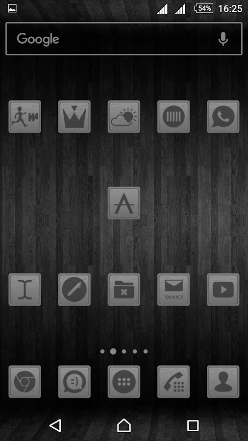 Wooden Icons Gray Screenshot 2