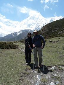 Pungen Glacier et vue sur le Manaslu