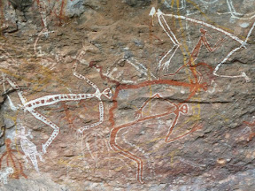Peintures aborigènes - Danses