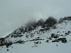 Craddle Mountain dans la tempête