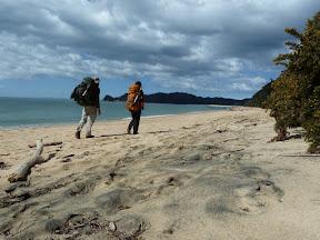 Marche dans le sable