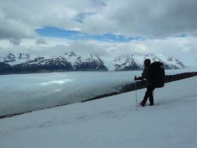 Au dessus du glacier Grey