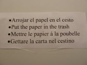 Papier à la poubelle