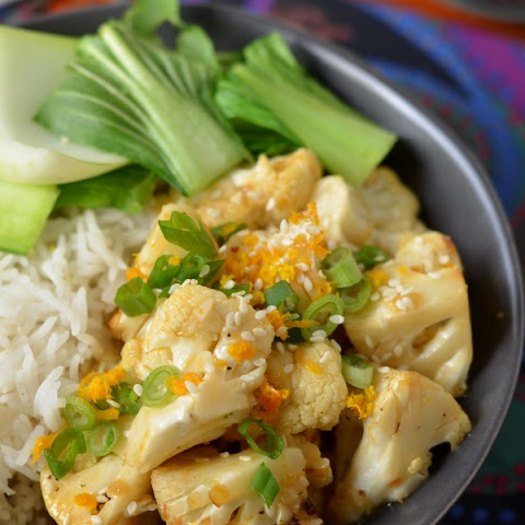 Asian Orange Cauliflower