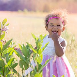 crop duster princess by Meghan Gilmore - Babies & Children Babies ( #summer #babygirl #goofy #laughing #dawn #hot #pink #princess, , KidsOfSummer )