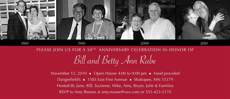 a 50th wedding anniversary
