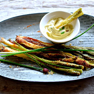 Crunchy Spring Onions with Wasabi-Lime Mayo
