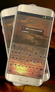 Shiny Sunset TouchPal - screenshot