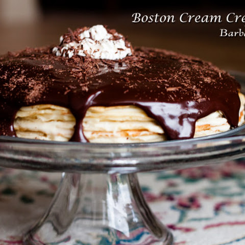 Boston Cream Crepe Cake