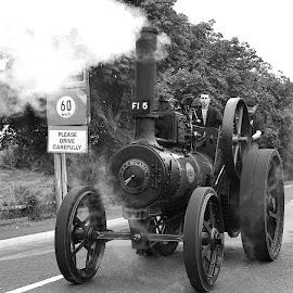 Steam engine  by Thomas Cullen - Transportation Roads