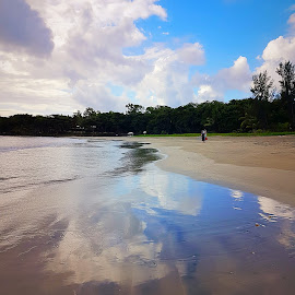 Cloudy dreams by Hayley Moortele - Landscapes Beaches ( #landscape, #clouds, #seaside, #reflections )