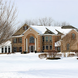 House in winter. by Peter DiMarco - Buildings & Architecture Homes ( home, building, house, homes, house and snow )