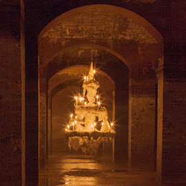 Andante by Amy Robinson - Buildings & Architecture Public & Historical ( sculpture, copenhagen, reservoir, cisternerne, candles, holidays, denmark, underground )