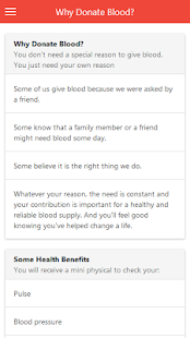 Blood Donation Tips - screenshot