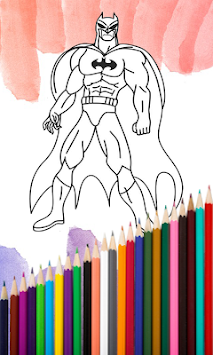 Superhero Coloring Book 2017 APK Screenshot Thumbnail 1