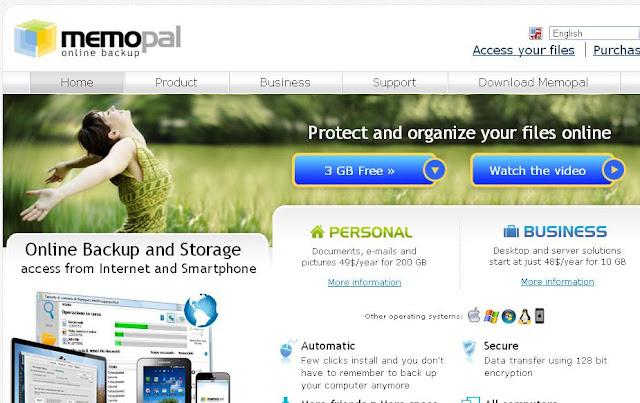 memopal free online cloud storage